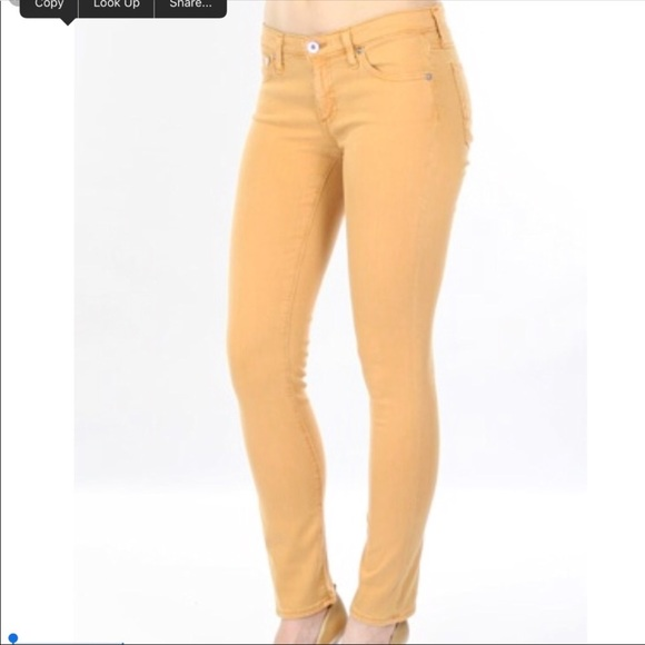 cropped skinny jeans - Yellow & Orange AG - Adriano Goldschmied